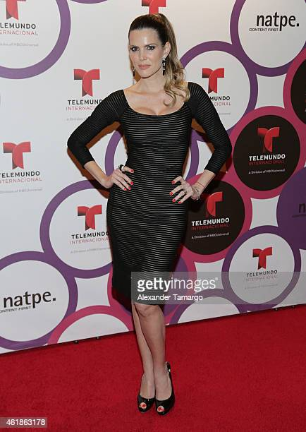 Maritza Rodriguez arrives at Telemundo International Welcome Party during NATPE 2015 at Adrienne Arsht Center on January 20 2015 in Miami Florida