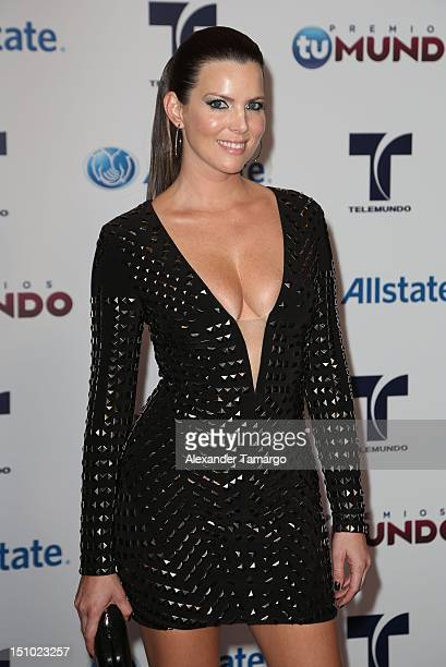 Maritza Rodriguez arrives at Telemundo's Premios Tu Mundo Awards at Fillmore Miami Beach on August 30 2012 in Miami Beach Florida