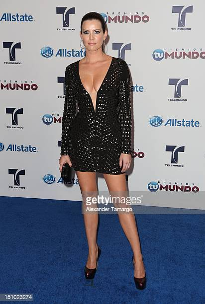 Maritza Rodriguez arrives at Telemundo's Premios Tu Mundo Awards at Fillmore Miami Beach on August 30 2012 in Miami Beach Florida