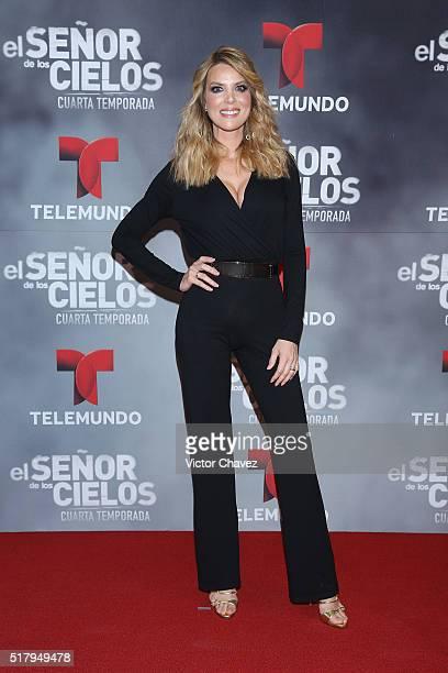 Maritza Rodriguez attends 'El Senor De Los Cielos' season 4 premiere red carpet at Cinepolis Plaza Carso on March 28 2016 in Mexico City Mexico