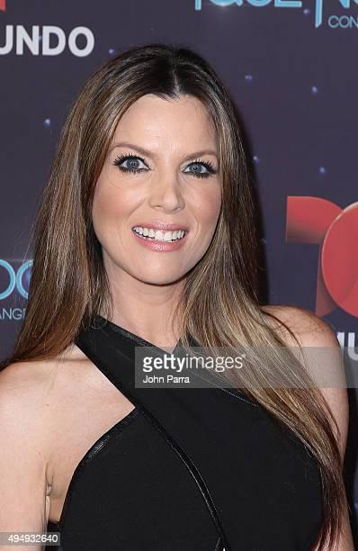Maritza Rodriguez attends Telemundo 'Que Noche With Angelica And Raul' on October 29 2015 in Miami Florida