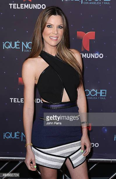 Maritza Rodriguez attends Telemundo 'Que Noche With Angelica And Raul' on October 29 2015 in Miami Florida