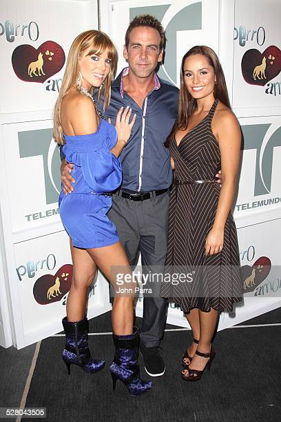 Maritza Rodriguez Carlos Ponce and Ana Lucia Dominguez attends Perro Amor launch party at W Hotel on December 7 2009 in Miami Beach Florida