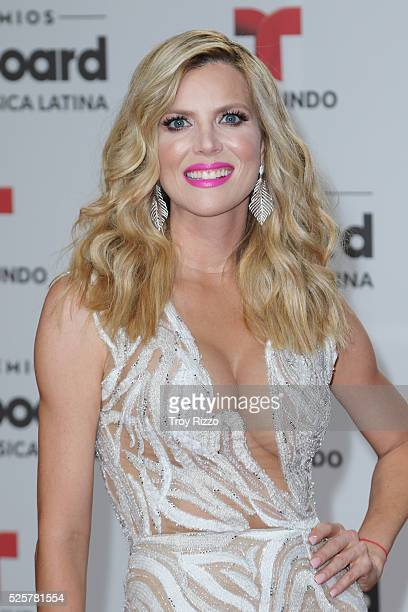 Maritza Rodriguez is seen arriving to the Billboard Latin Music Awards at the Bank United Center on April 28 2016 in Miami Florida