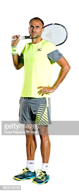 Marius Copil of Romania poses for portraits during the Australian Open at Melbourne Park on January 10, 2018 in Melbourne, Australia.