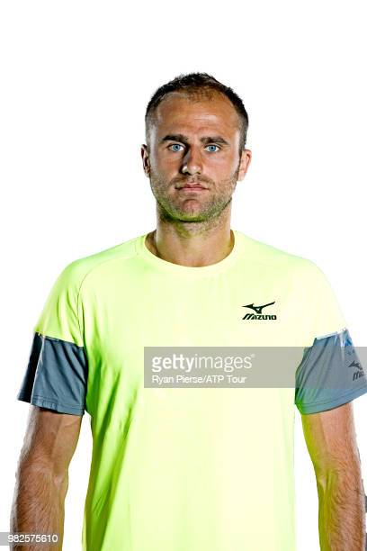 Marius Copil of Romania poses for portraits during the Australian Open at Melbourne Park on January 12 2018 in Melbourne Australia