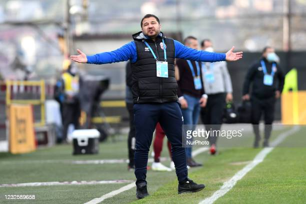 Marius Croitoru, head coach of FC Botosani, during CFR Cluj vs FC Botosani, Romanian Liga 1, Dr. Constantin Radulescu Stadium, Cluj-Napoca, Romania,...