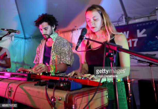 Marius Duflot and Laure Briard perform onstage at Burgermania during 2017 SXSW Conference and Festivals at Hotel Vegas at Volstead on March 18 2017...