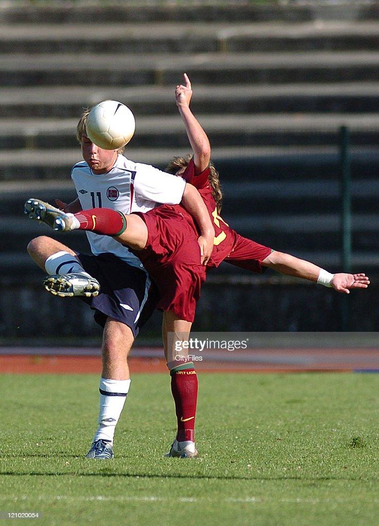 13th Lisbon International U18 Tournament - Portugal vs Norway : News Photo