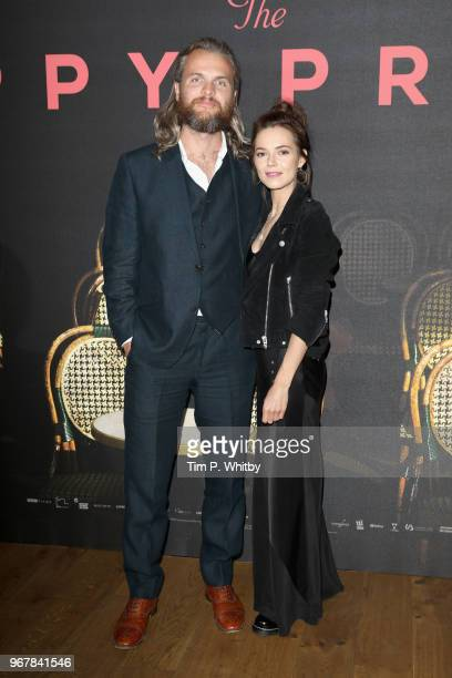 Marius Jensen and Kara Tointon attend the UK premiere of 'The Happy Prince' at Vue West End on June 5 2018 in London England