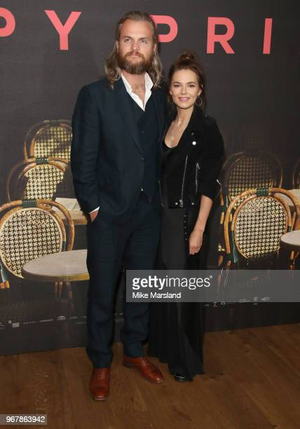 Marius Jensen and Kara Tointon attends the UK premiere of 'The Happy Prince' at Vue West End on June 5 2018 in London England