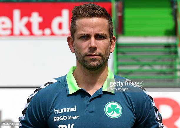 Marius Koc poses during the team presentation at Sportpark Ronhof Thomas Sommer on July 14 2016 in Fuerth Germany