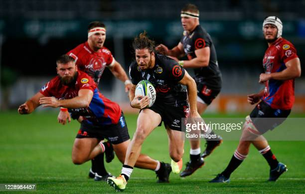Marius Louw of the Cell C Sharks runs with the ball during the Super Rugby Unlocked match between Cell C Sharks and Emirates Lions at Jonsson Kings...