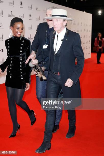 Marius MuellerWesternhagen and his girlfriend Lindiwe Suttle during the Echo award winners board on April 6 2017 in Berlin Germany