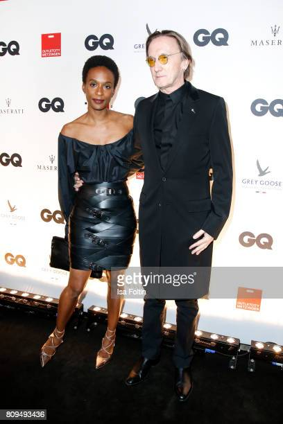 Marius MuellerWesternhagen and his partner Lindiwe Suttle attend the GQ Mension Style Party 2017 at Austernbank on July 5 2017 in Berlin Germany