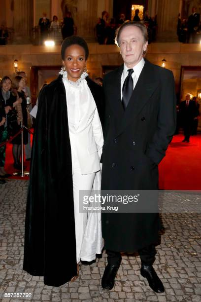 Marius MuellerWesternhagen and his partner Lindiwe Suttle attend the ReOpening of the Staatsoper Unter den Linden on October 3 2017 in Berlin Germany