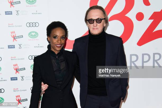 Marius MuellerWesternhagen and his wife Lindiwe Suttle attend the BZ Kulturpreis 2018 at Staatsoper im Schiller Theater on January 9 2018 in Berlin...