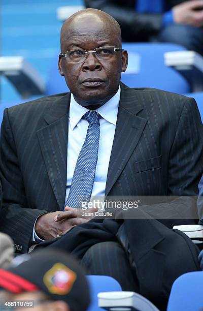 Marius Tresor attends the French Cup Final between Stade Rennais FC and EA Guingamp at Stade de France on May 3 2014 in SaintDenis near Paris France