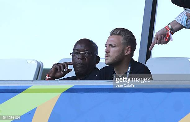 Marius Tresor attends the UEFA Euro 2016 quarter final match between Germany and Italy at Stade Matmut Atlantique on July 2 2016 in Bordeaux France