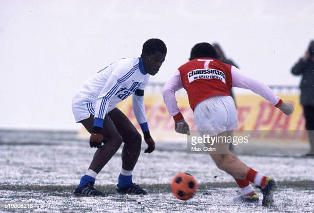 Marius Tresor of Marseille during the match between Reims and Olympique Marseille on February 12 in Reims France