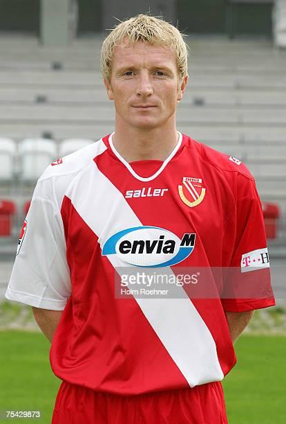 Mariusz Kukielka poses during the Bundesliga 2nd Team Presentation of FC Energie Cottbus on July 13, 2007 in Jena, Germany.