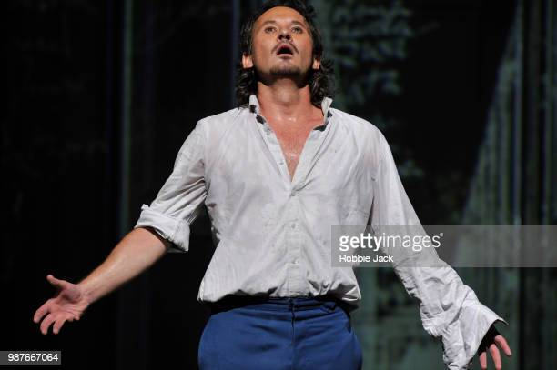Mariusz Kwiecien as Don Giovanni in the Royal Opera's production of Wolfgang Amadeus Mozart's Don Giovanni directed by Kasper Holten and conducted by...