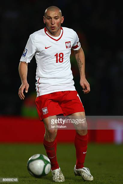 Mariusz Lewandowski of Poland during the FIFA2010 World Cup Qualifier match between Northern Ireland and Poland at Windsor Park on March 28 2009 in...