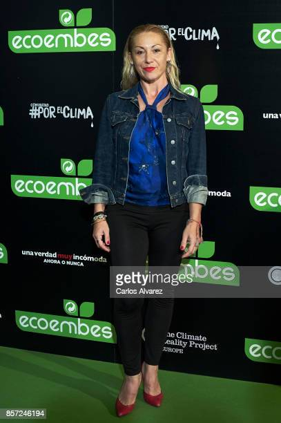 Marivi Carrillo attends 'An Inconvenient Sequel Truth to Power' premiere at the Callao cinema on October 3 2017 in Madrid Spain