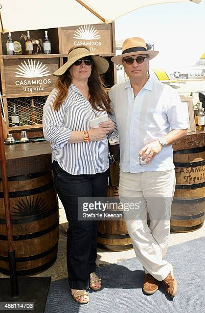 Marivi Lorido Garcia and actor Andy Garcia attend The Horsemen Flight Team Event Hosted By Dan Friedkin And Lauren Sanchez Whitesell sponsored by...