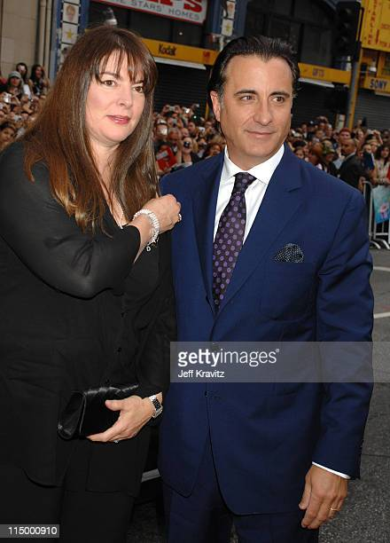 Marivi Lorido Garcia and Andy Garcia during Ocean's Thirteen Los Angeles Premiere Red Carpet at Grauman's Chinese Theater in Hollywood California...
