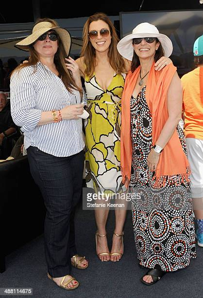 Marivi Lorido Garcia tv personality Thea Andrews and producer Harriet Sternberg attend The Horsemen Flight Team Event Hosted By Dan Friedkin And...