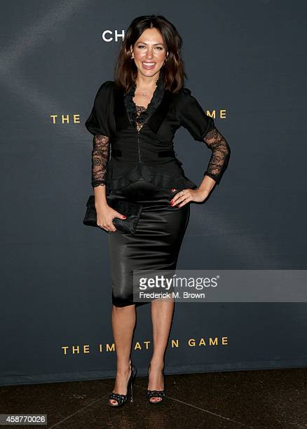 Mariya Guzeeva attends the screening Of The Weinstein Company's 'The Imitation Game' hosted by Chanel at DGA Theater on November 10 2014 in Los...