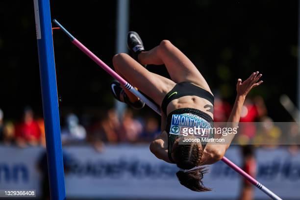 Mariya Kochanova of ANA fails to clear the bar in the Women's High Jump Final during European Athletics U20 Championships Day 4 at Kadriorg Stadium...