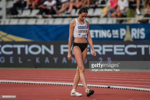 Mariya Lasitskene of ANA competes in the Women High Jump of the IAAF Diamond League Meeting de Paris 2018 at the Stade Charlety on June 30 2018 in...