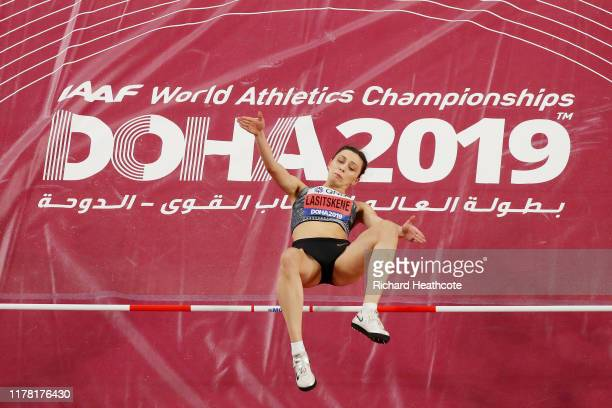 Mariya Lasitskene of the Authorised Neutral Athletes competes in the Women's High Jump final during day four of 17th IAAF World Athletics...