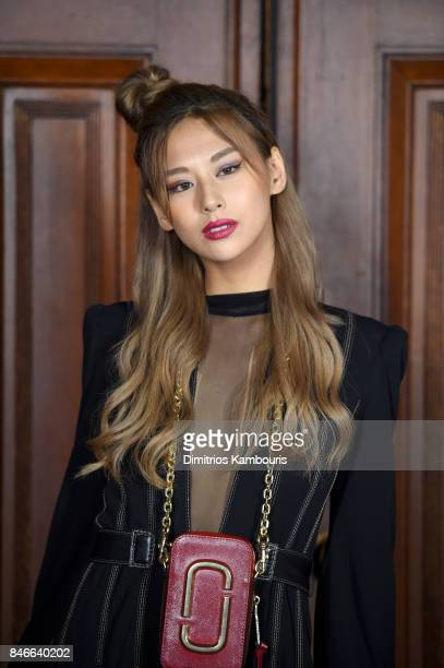 Mariya Nishiuchi attends Marc Jacobs SS18 fashion show during New York Fashion Week at Park Avenue Armory on September 13, 2017 in New York City.