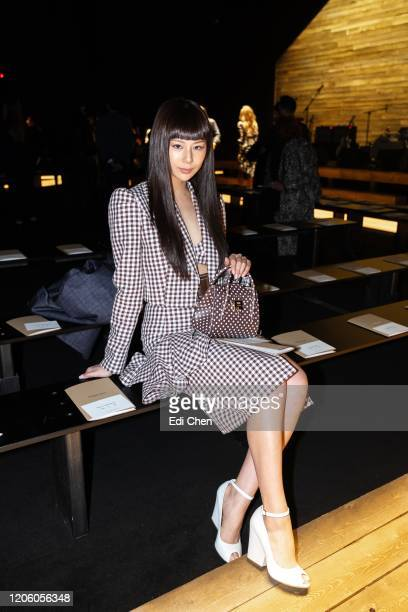 Mariya Nishiuchi attends the MICHAEL KORS COLLECTION Fall 2020 Runway Show, Asia Pacific Front Row Faces at American Stock Exchange on February 12,...