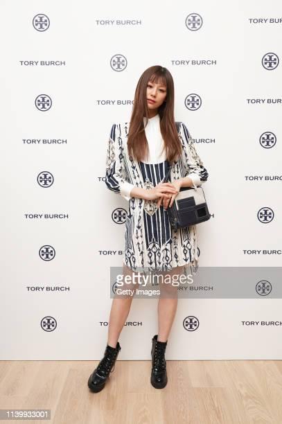 Mariya Nishiuchi attends the Tory Burch Ginza Boutique Opening on April 02 2019 in Tokyo Japan