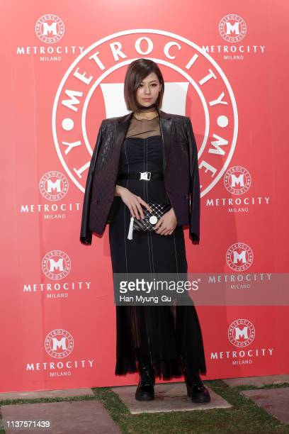 Mariya Nishiuchi from Japan attends the photocall for the 'Metrocity' 2019 F/W Collection on March 22, 2019 in Seoul, South Korea.