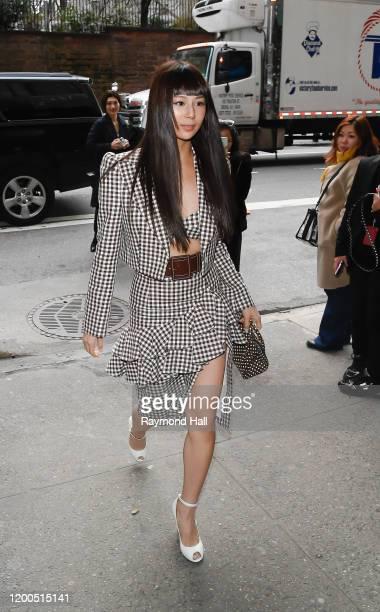 Mariya Nishiuchi seen at a Michael Kors Collection show on February 12, 2020 in New York City.