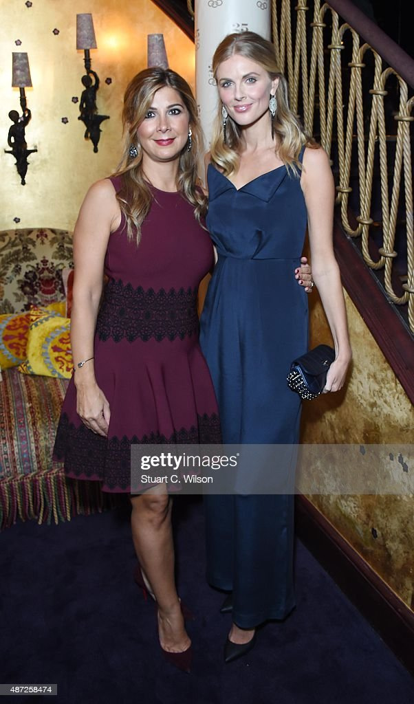 Mariza Koutsolioutsos and Donna Air attend the Links Of London 25th Anniversary Event at Loulou's on September 7, 2015 in London, England.