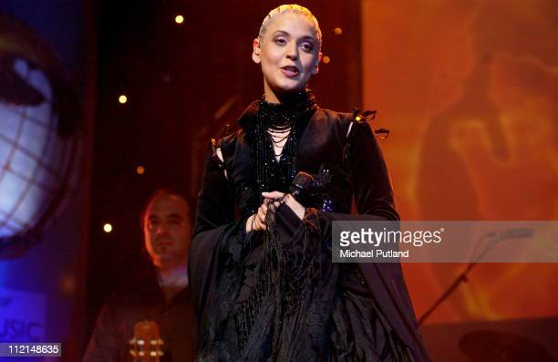 Mariza performs on stage at Radio 3 World Music Awards Concert Ocean Hackney London 24 March 2003