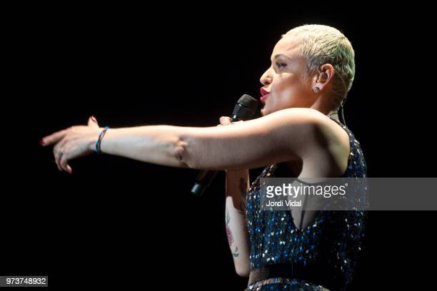 Mariza performs on stage during Jardins Palau de Pedralbes Festival on June 13 2018 in Barcelona Spain