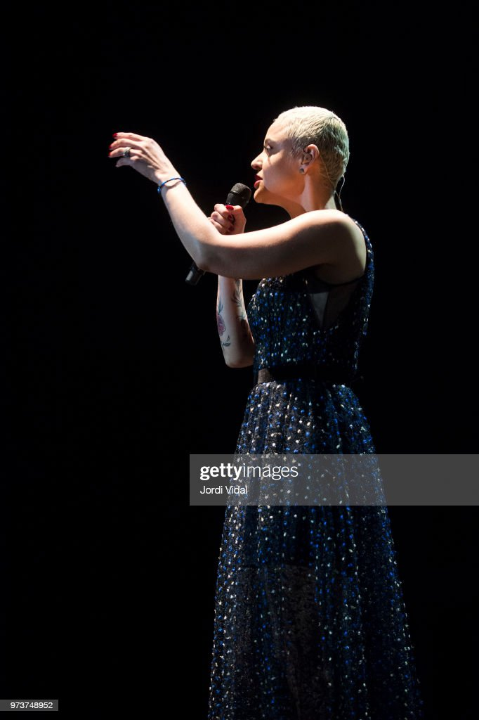 Mariza performs on stage during Jardins Palau de Pedralbes Festival on June 13, 2018 in Barcelona, Spain.