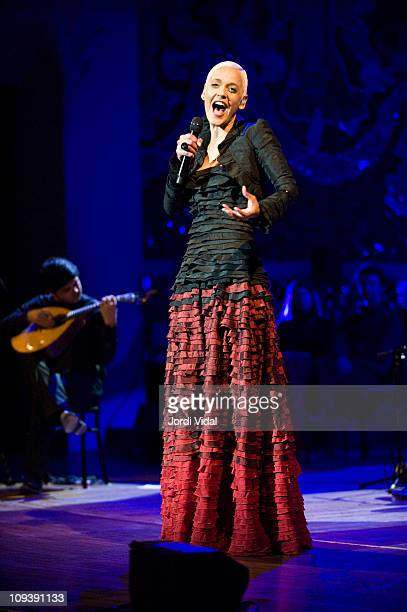Mariza performs on stage during the Festival del Millenni at Palau De La Musica on February 23 2011 in Barcelona Spain