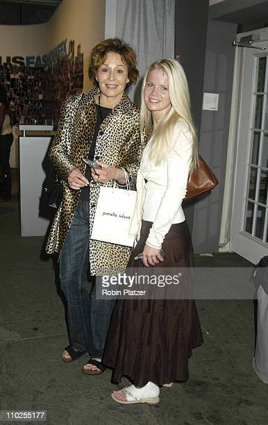 Marj Dusay and Crystal Hunt during Olympus Fashion Week Spring 2006 Pamella Roland Front Row and Backstage at The Tents at Olympus Fashion Week in...