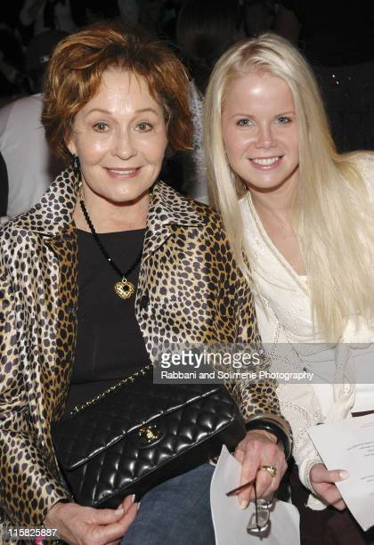 Marj Dusay and Crystal Hunt during Olympus Fashion Week Spring 2006 Pamella Roland Front Row and Backstage at Bryant Park in New York City New York...