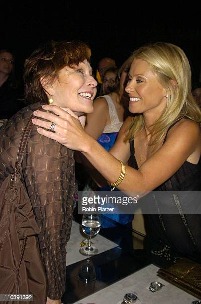 Marj Dusay and Kelly Ripa during Finola Hughes Book Party for New Book Soapsuds Hosted by Kelly Ripa June 14 2005 at The Montblanc Global Flagship...