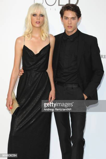 Marjan Jonkman and Hugh LaughtonScott arrive at the amfAR Gala Cannes 2018 at Hotel du CapEdenRoc on May 17 2018 in Cap d'Antibes France