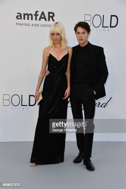 Marjan Jonkman and Hugh LaughtonScott arrives at the amfAR Gala Cannes 2018 at Hotel du CapEdenRoc on May 17 2018 in Cap d'Antibes France